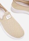Beżowe Buty Sportowe Dorythise