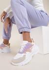 Biało-Liliowe Sneakersy Reighley