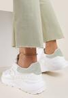 Biało-Miętowe Sneakersy Lythienne