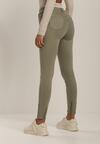 Ciemnozielone Spodnie Skinny Adracia