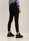 Czarne Spodnie Skinny Idaphonos