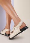 Beżowe Sandały Zaehania