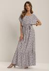 Biało-Niebieska Sukienka Petisesis