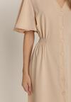 Jasnobeżowa Sukienka Kynora