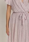 Liliowa Sukienka Aqeafer