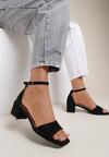 Czarne Sandały Adrasura