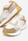 Biało-Beżowe Sneakersy Petirose