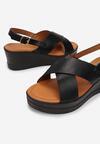Czarne Sandały Rhethosa