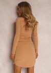 Ciemnobeżowa Sukienka Sageis