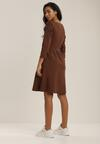 Brązowa Sukienka Clyreia