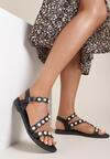 Czarne Sandały Sineleia
