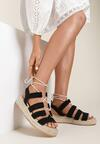 Czarne Sandały Nysetis