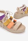 Beżowo-Żółte Sandały Nysetis