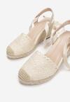 Beżowe Sandały Messeris