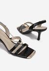 Czarne Sandały Nyshithise