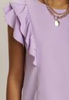 Liliowa Bluzka Kaisura