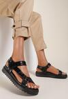 Czarne Sandały Xenreia