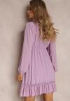 Liliowa Sukienka Perisiphe