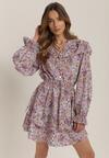 Fioletowa Sukienka Aqearial