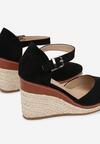 Czarne Sandały Drenania
