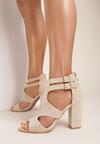 Beżowe Sandały Nadanore