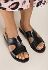 Czarne Sandały Sereibelle