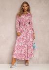 Ciemnoróżowa Sukienka Silelphise