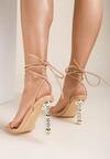 Beżowe Sandały Metiophine
