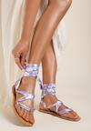 Liliowe Sandały Pethalise