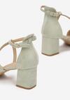 Miętowe Sandały Pethisha