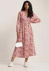 Różowa Sukienka Messypise