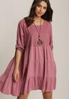 Ciemnoróżowa Sukienka Athileusa