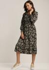Czarno-Beżowa Sukienka Coreamara