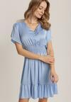 Niebieska Sukienka Anthenia