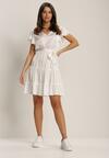 Biała Sukienka Rhelixia