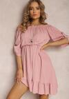 Różowa Sukienka Uhrera