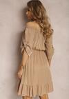 Ciemnobeżowa Sukienka Uhrera