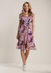 Liliowa Sukienka Acalephise