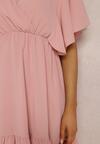 Różowa Sukienka Clamei