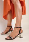 Czarne Sandały Shiriness