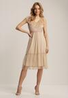 Beżowa Sukienka Arrily