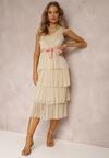 Beżowa Sukienka Parsiphe
