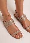 Beżowe Sandały Thoniliana