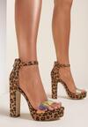 Panterkowe Sandały Poreinoire