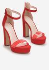 Czerwone Sandały Poreinoire