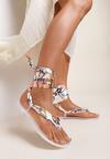 Białe Sandały Sagedice