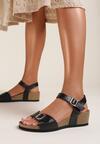 Czarne Sandały Nesarea