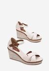 Beżowe Sandały Petirane