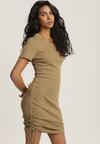 Ciemnobeżowa Sukienka Perinohre