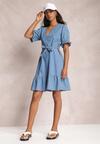 Niebieska Sukienka Naririan